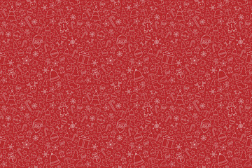 Beautiful Xmas texture with decorations. Christmas wallpaper concept. Vector Fototapete