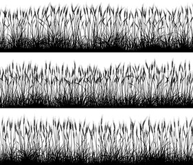 Horizontal banners of cereal field silhouettes.