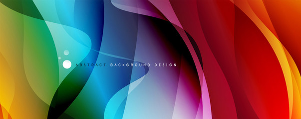 Trendy simple fluid color gradient abstract background with dynamic wave line effect. Vector Illustration For Wallpaper, Banner, Background, Card, Book Illustration, landing page Fotomurales
