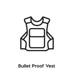 bullet proof vest icon vector sign symbol