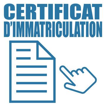 Logo certificat d'immatriculation.
