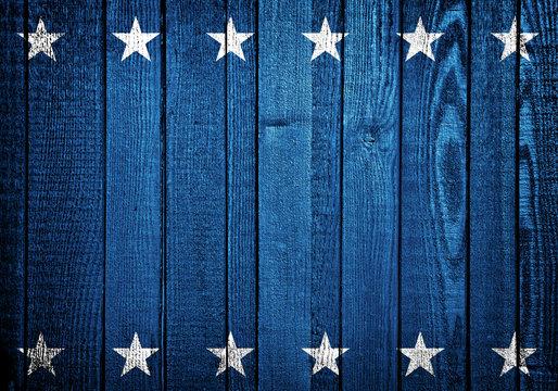 USA background. USA flag elements on wooden backdrop.
