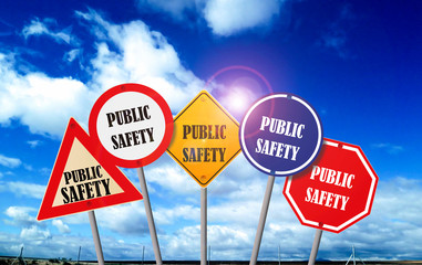 public safety on traffic sign