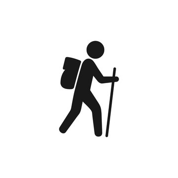 Hiking vector icons, illustration isolated sign symbol