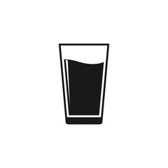 water glass icon. Flat Water glass, drink symbol vector illustration