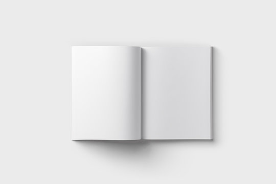 Blank Cover Of Magazine, Book, Booklet,Brochure Mock up.3D rendering.