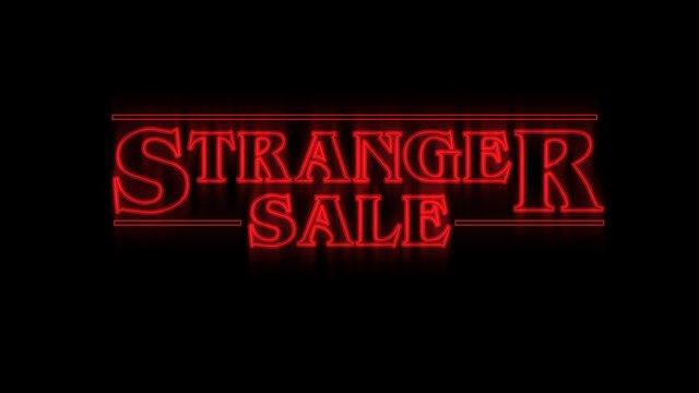 The Stranger Sale text illustration