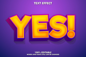 Game style text effect, cartoon font style Wall mural