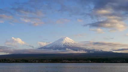Fototapete - Mountain fuji at sunset, Kawaguchiko Lake, Japan