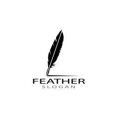 feather logo vector templates