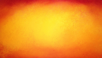 Orange yellow and red background with border texture grunge in abstract bold colorful design Wall mural