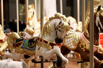 carousel with horses. carousel merry go round