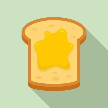 Jam toast icon. Flat illustration of jam toast vector icon for web design