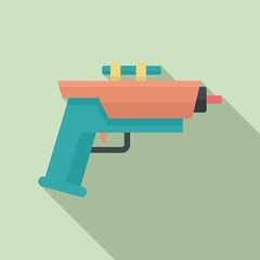 Child blaster icon. Flat illustration of child blaster vector icon for web design