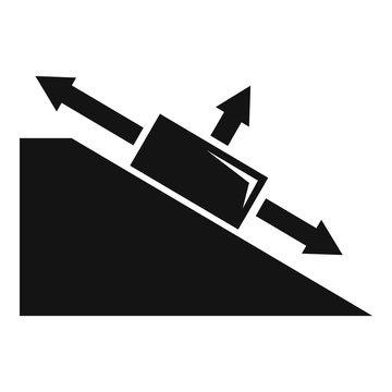 Angle object physics icon. Simple illustration of angle object physics vector icon for web design isolated on white background