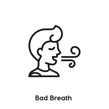 bad breath icon vector. bad breath icon vector symbol illustration. Modern simple vector icon for your design. bad breath icon vector