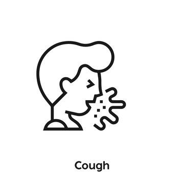 cough icon vector. sneeze icon vector symbol illustration. Modern simple vector icon for your design. influenza icon vector.