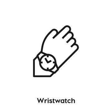 wristwatch icon vector. hand watch icon vector symbol illustration. Modern simple vector icon for your design. wrist watch icon vector