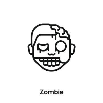 Zombie icon vector. Horror icon vector symbol illustration. Modern simple vector icon for your design. Zombie icon vector