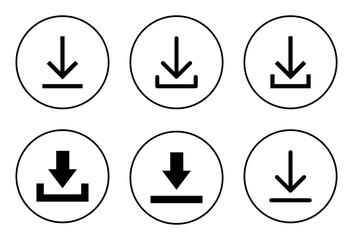 Downloading vector icon, download icon vector