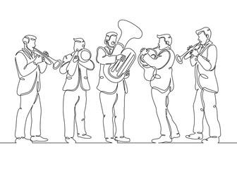 male brass quintet Wall mural
