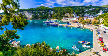 Fotobehang Kust Picturesque Alonissos island - relaxing tranquil hollidays in Greece. Patitiri bay. Sporades