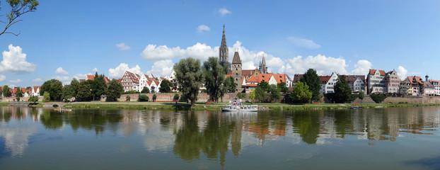 Fototapete - Donau in Ulm mit Ulmer Münster
