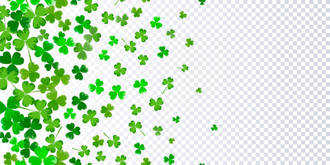 Foto auf Acrylglas Künstlich St.Patrick's day horizontal seamless background
