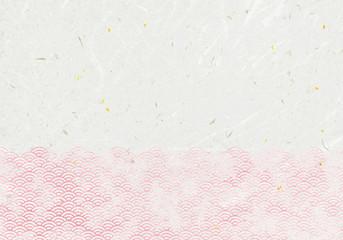 背景:青海波 波 海 伝統 模様 和風 和柄 図案 壁紙 素材 テクスチャー 赤 レッド