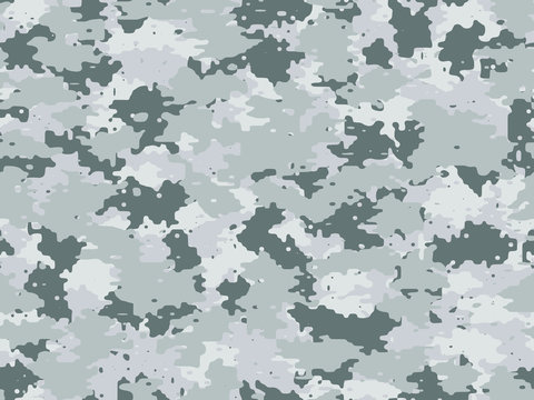 Full seamless winter military camouflage skin pattern vector for decor and textile. Army masking design for hunting textile fabric print and wallpaper. Camo texture design for fashion and home design