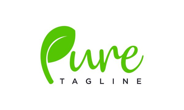 Pure logo design concept editable