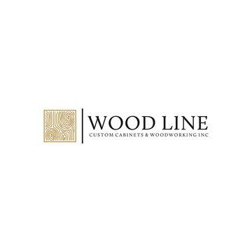 wood logo design inspiration, vector eps 10