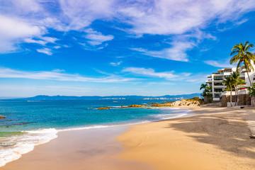 Beautiful morning at Conchas Chinas beach, Puerto Vallarta Fotomurales