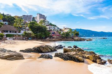 Beautiful morning at Conchas Chinas beach, Puerto Vallarta Fototapete