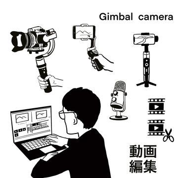 動画,動画編集,ジンバル,Vログ,撮影,編集,マイク,カメラ