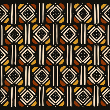 Tribal seamless pattern. Traditional African mud cloth.