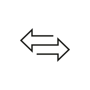 Transfer arrow icon. Vector illustration, flat design