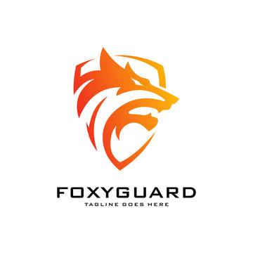 Fox Shield Logo vector template designs