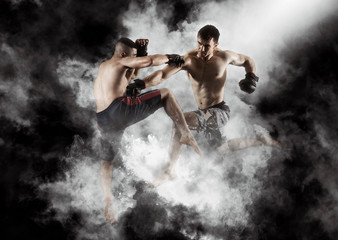 MMA boxers fighters fight in fights without rules