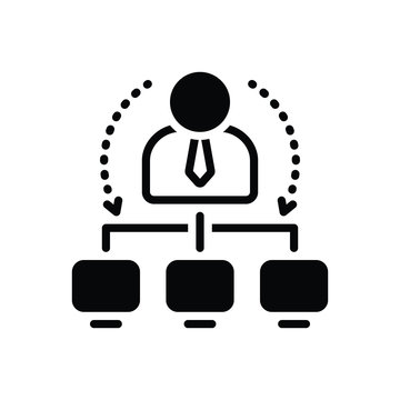 Black solid icon for administrator