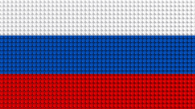 3D Spheres Russia Flag