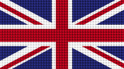 3D Spheres United Kingdom Flag