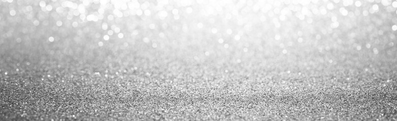 white and silver bokeh abstract background