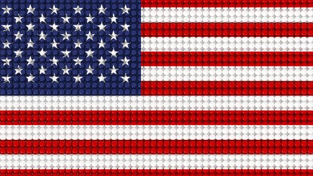 3D Spheres United States Flag