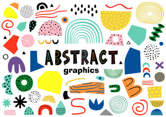set of isolated abstract elements    - vector illustration, eps