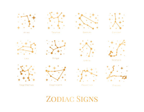 Illustration zodiac sign.