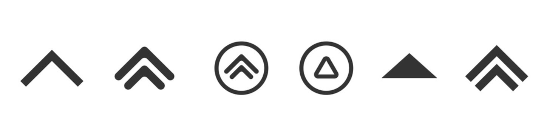 Swipe up icons vector