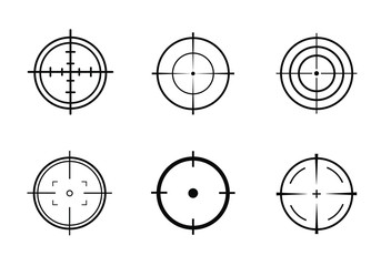 Target Vector icon illustration. Set of target icon
