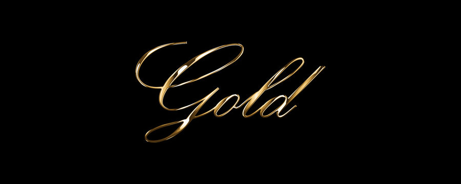 luxury style gold text with black background
