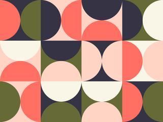 Bright Colored Circular Pattern Design